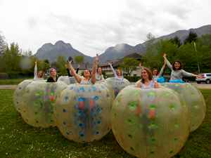 evjf bubble foot la clusaz