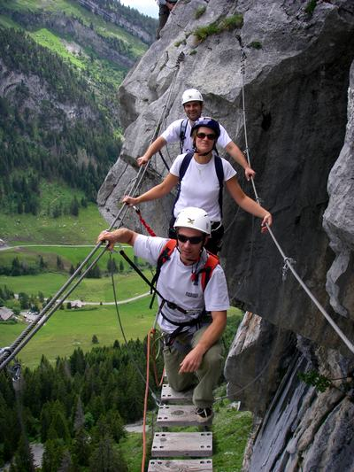 via ferrata incentive la clusaz