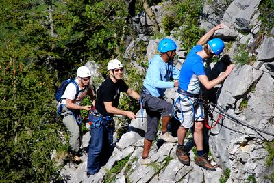 via ferrata la clusaz incentive